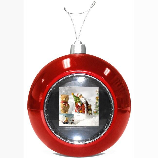 TAO Digital Photo Red Christmas Ball Ornament