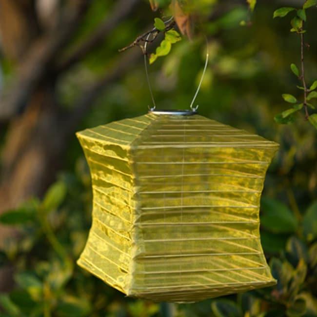 Allsop Moss (Green) Pagoda Solar Lantern (Stainless Steel)