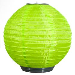 Lime Solar-powered Soji Lantern
