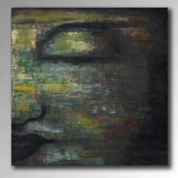 Handmade Acrylic on Canvas 'Deep Reflection' (Indonesia)