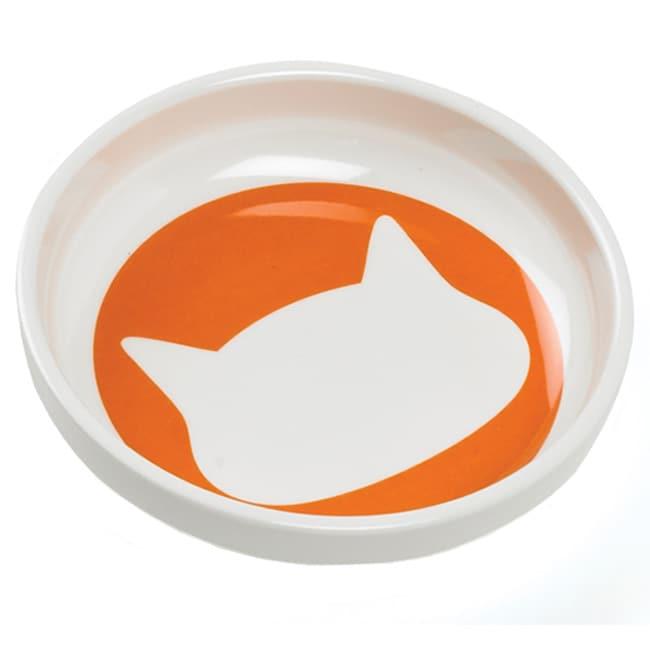 Ore Shadow Cat Bowl in Sunset Orange