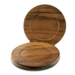 Handmade Set of 4 Beaded Edge Acacia Wood Chargers (China)  sc 1 st  Overstock & Wood Dinnerware | Find Great Kitchen u0026 Dining Deals Shopping at ...