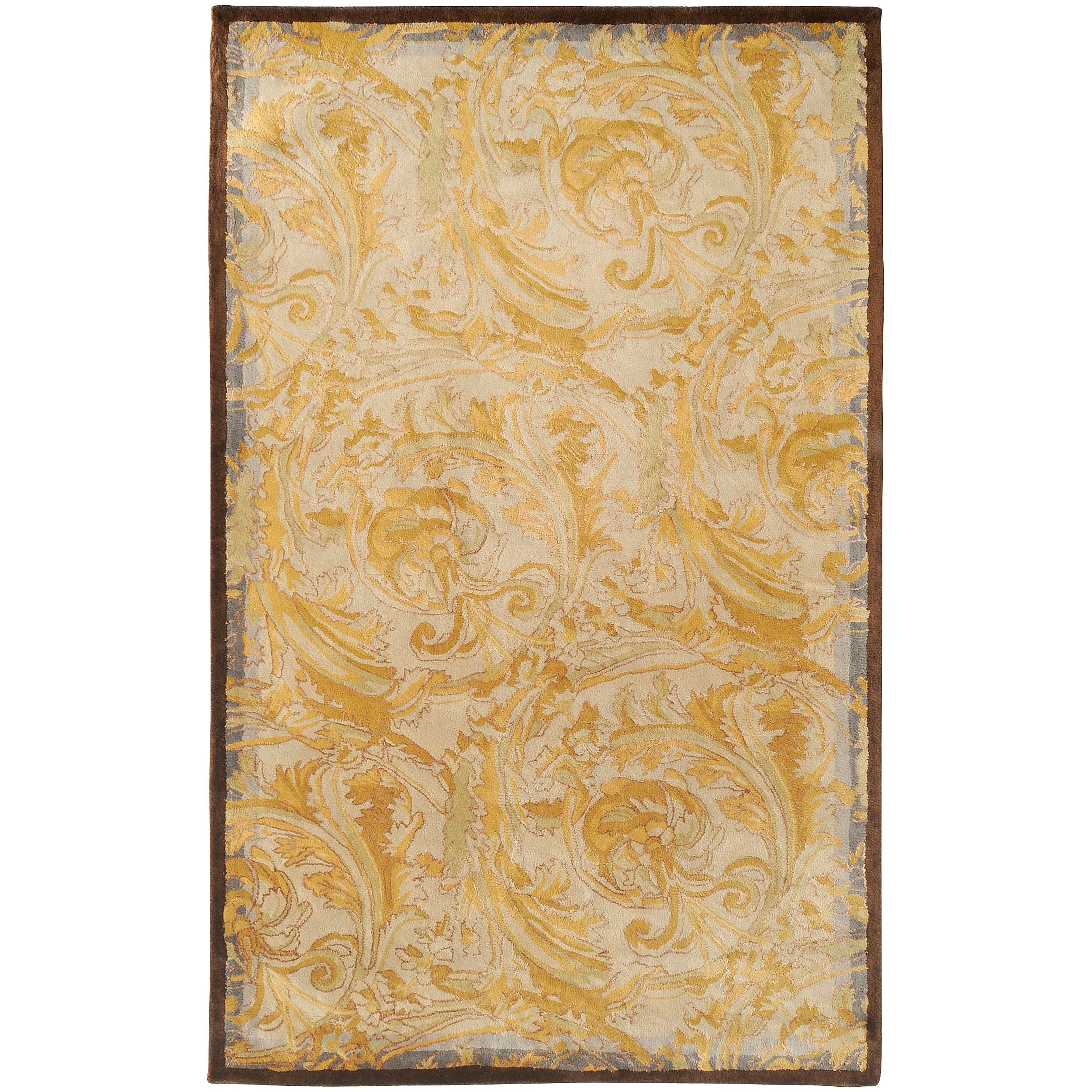 Hand-tufted Lechlade New Zealand Wool Rug (5' x 8')