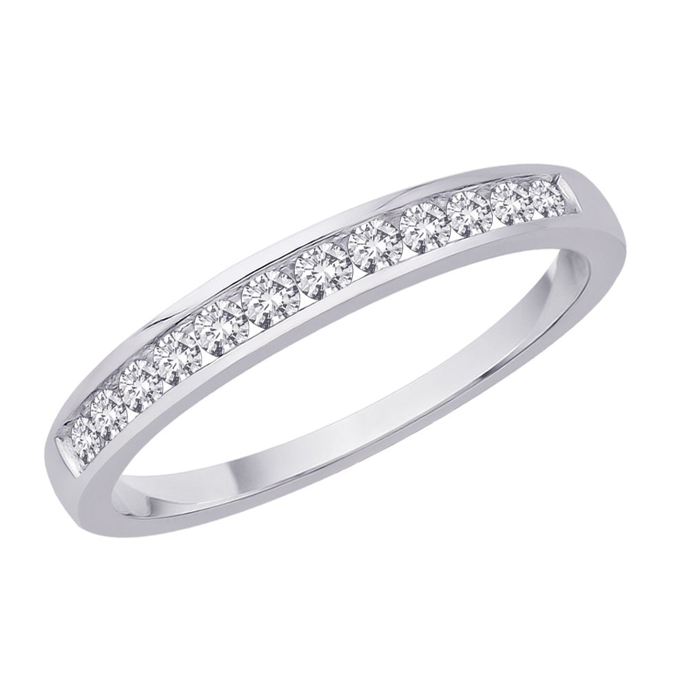 14k White Gold 1/4ct TDW Diamond Women's Wedding Eternity Band (J-K, I2-I3) (Size 6.75)