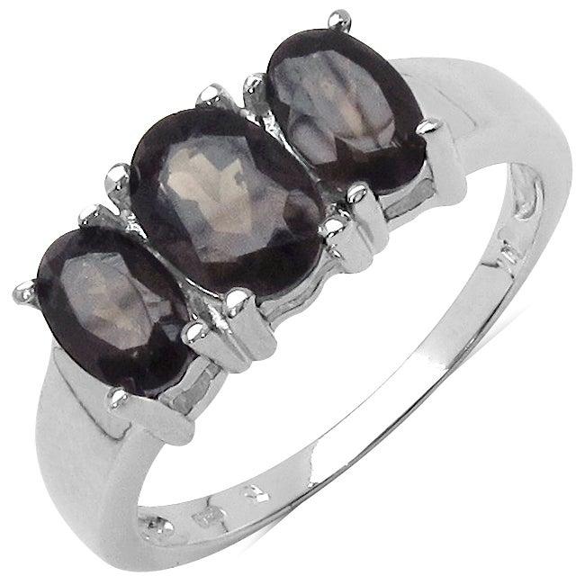 Malaika Sterling Silver Smokey Quartz Ring