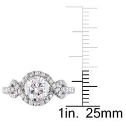 Miadora 18k White Gold 1 1/2ct TDW Diamond Engagement Ring (H-I, I1-I2)