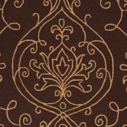 Hand-hooked Haxby Indoor/Outdoor Damask Print Rug (9' x 12') - Thumbnail 2