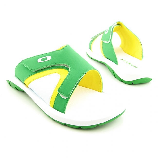 5d008c41aa Shop Oakley Men s White  Green Supercoil 2 Sandals - Free Shipping On  Orders Over  45 - Overstock.com - 6375732