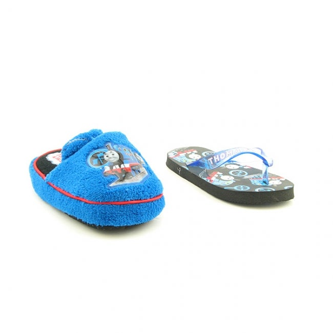 Thomas The Train Boys' Toddler and Infant Slipper and Flip Flop Set