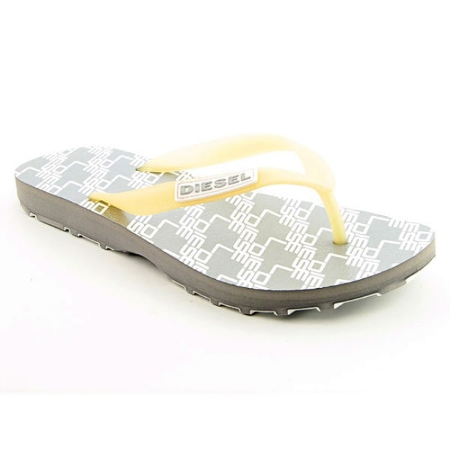 Diesel Women's Silver Water Games Flip Flop Sandals - Thumbnail 0