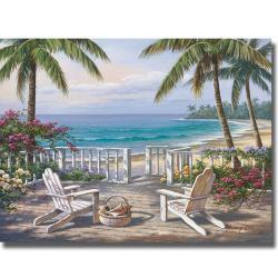 Sung Kim 'Coastal View' Canvas Art