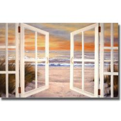 Diane Romanello 'Sunset Beach' Canvas Art
