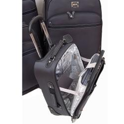 Kenneth Cole Reaction Charcoal Grey Curve Appeal II 4-piece Spinner Luggage Set - Thumbnail 1