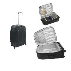 Kenneth Cole Reaction Charcoal Grey Curve Appeal II 4-piece Spinner Luggage Set - Thumbnail 2