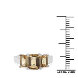 Malaika Sterling Silver Citrine Ring (2 1/10ct TGW)