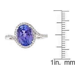 D'Yach 14k White Gold Tanzanite and 1/3ct TDW Diamond Ring (G-H, I1-I2)