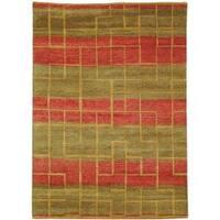 Safavieh Hand-knotted Selaro Maz Green Wool Rug - 6' x 9'