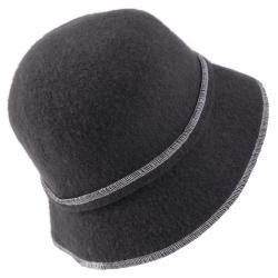 Journee Collection Women's Rosette Accent Wool Cloche Hat