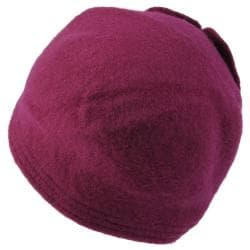 Journee Collection Women's Wool Flower Accent Bucket Hat - Thumbnail 1