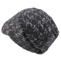 Journee Collection Women's Tweed Button Accent Newsboy Cap - Thumbnail 1