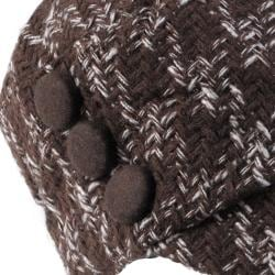 Journee Collection Women's Tweed Button Accent Newsboy Cap - Thumbnail 2