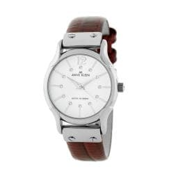 Shop anne klein red leather strap watch free shipping on orders over 45 6378622 for Anne klein leather strap