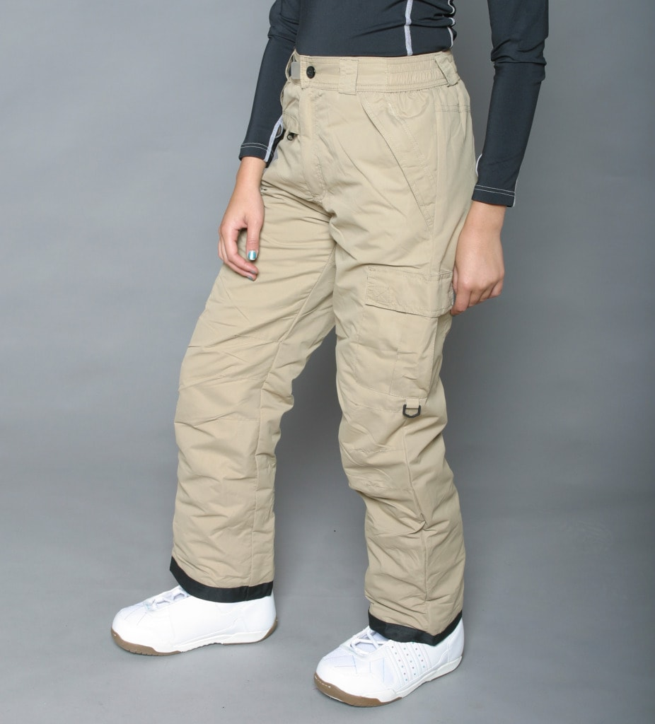 Pulse Women's Khaki Classic Cargo Snow Pants - Thumbnail 0