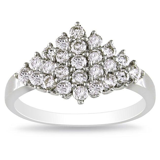 Miadora 14k White Gold 3/4ct TDW Diamond Ring