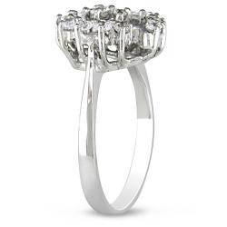 Miadora 14k White Gold 2/5ct TDW Diamond Heart Ring - Thumbnail 1