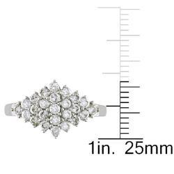 Miadora 14k White Gold 3/4ct TDW Diamond Ring - Thumbnail 2