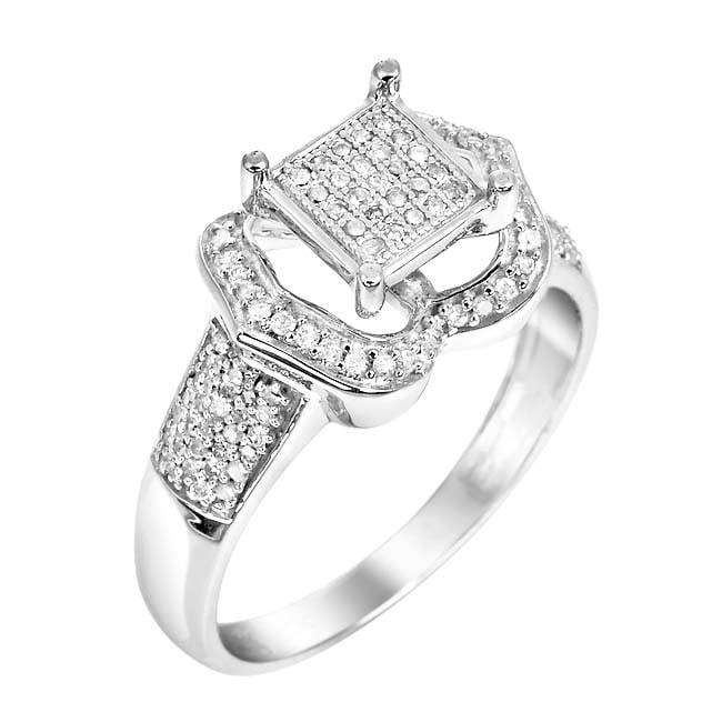 10k White Gold 1/3ct TDW White Diamond Ring (H, I1-I2)