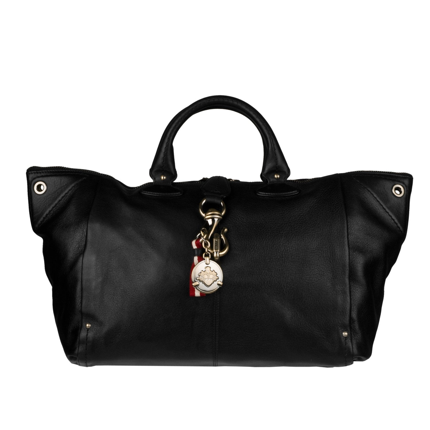 Bally Bowlings Leather Tote Bag