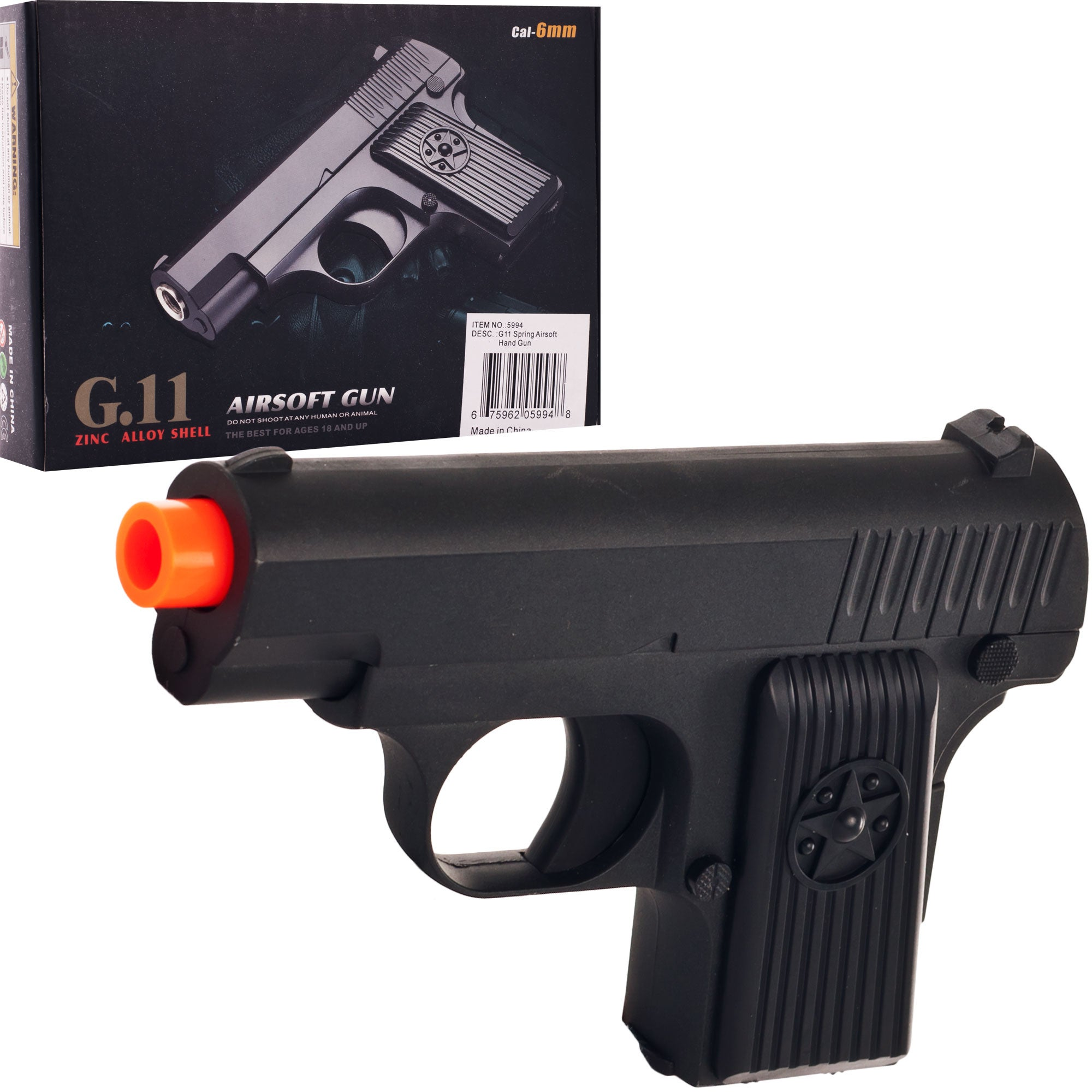 Whetstone G.11 Zinc Alloy Shell Airsoft Pistol