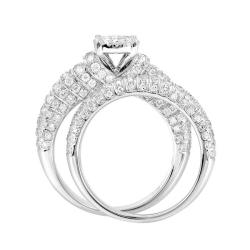 14k White Gold 3/4ct TDW White Diamond Ring (G, SI1-SI2) - Thumbnail 1