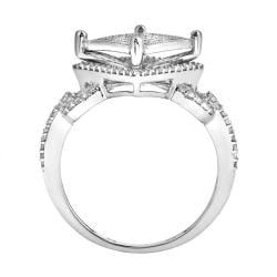 10k White Gold 1/2ct TDW White Diamond Ring (H, I1-I2) - Thumbnail 1