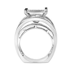 10k White Gold 1 1/4ct TDW White Diamond Ring (H, I1-I2) - Thumbnail 1