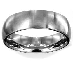 Stainless Steel Brushed Men's Wedding Band - Thumbnail 1