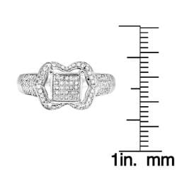 10k White Gold 1/3ct TDW White Diamond Ring (H, I1-I2) - Thumbnail 2
