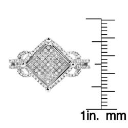 10k White Gold 1/2ct TDW White Diamond Ring (H, I1-I2) - Thumbnail 2