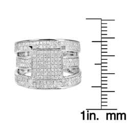 10k White Gold 1 1/4ct TDW White Diamond Ring (H, I1-I2) - Thumbnail 2