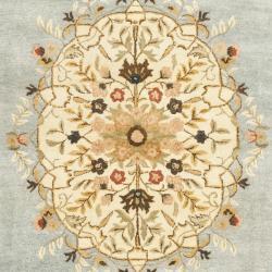 Safavieh Handmade Bliss Light Blue/ Ivory Hand-spun Wool Rug (9'6 x 13'6) - Thumbnail 2