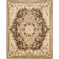 Safavieh Handmade Aubusson Creteil Brown/ Beige Wool Rug - 8'3 x 11'