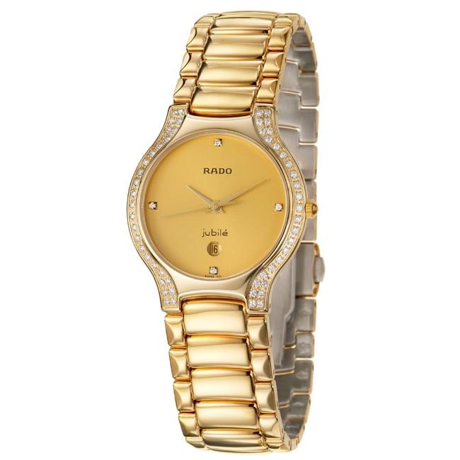 Rado Women's 'Florence' Yellow Goldplated Stainless Steel Quartz Diamond Watch