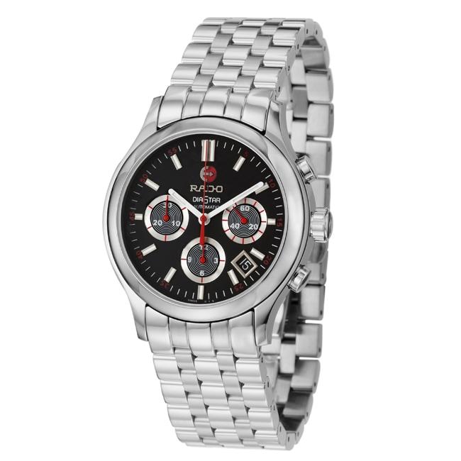Rado Men's 'Diastar' Stainless Steel Chronograph Automatic Watch