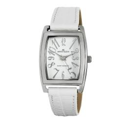 Shop anne klein white leather strap watch free shipping on orders over 45 overstock 6382945 for Anne klein leather strap