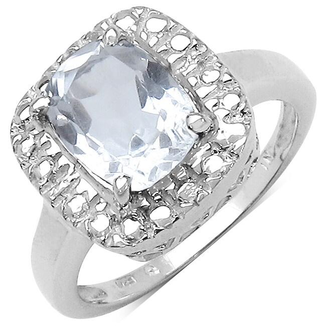 Malaika Sterling Silver Clear Quartz Ring (2ct TGW)