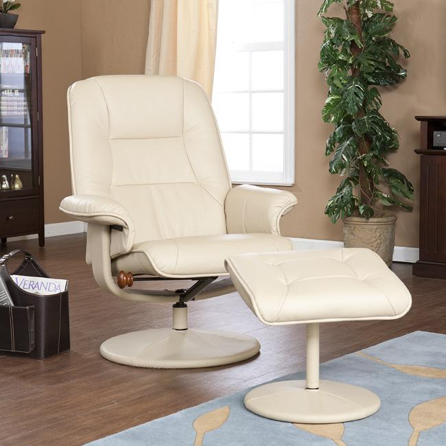 Keystone 360-degree Taupe Recliner and Ottoman