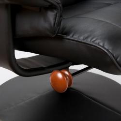 Keystone 360-degree Black Recliner and Ottoman