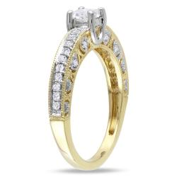 Miadora 14k Two-tone Gold 1/2ct TDW Diamond Ring (G-H, I2-I3) - Thumbnail 1