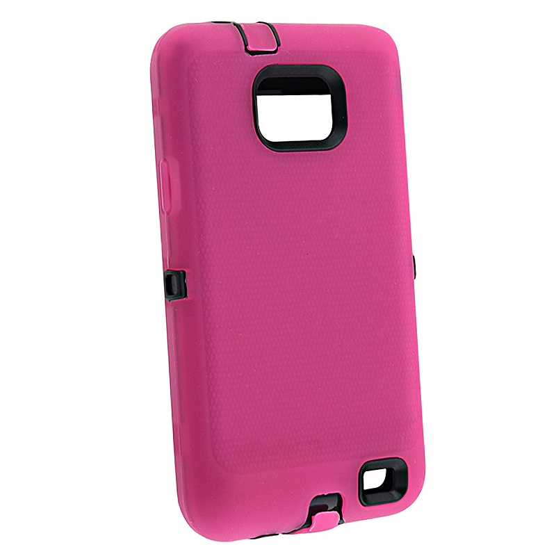 Black/ Hot Pink Hybrid Case for Samsung Galaxy S II i9100